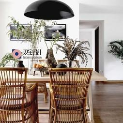 自然混搭风餐厅设计图片