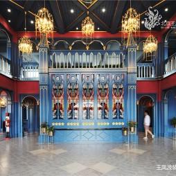 英式风格售楼处大堂设计