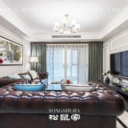 柔和美式客厅吊灯图
