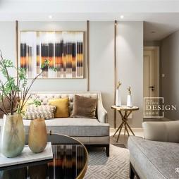 柔和美式客厅装饰画图