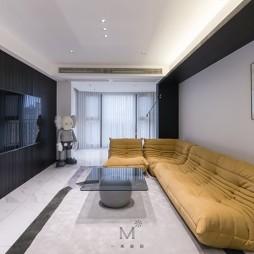 130㎡现代简约客厅沙发图片