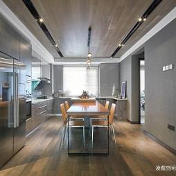 温馨现代风厨房餐厅一体设计