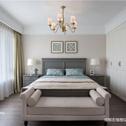 柔软美式卧室吊灯图片