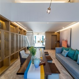 木质简约客厅茶几设计