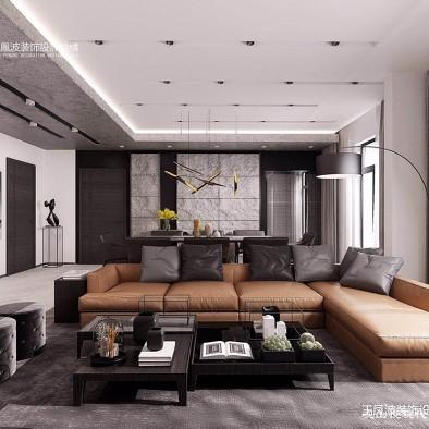 现代分风格设计,213平米_3605508