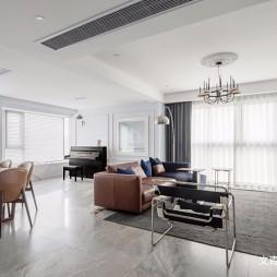 现代复古客厅设计图片