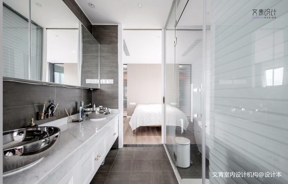 现代复古卫浴实景图片