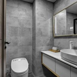 简单现代风卫浴设计图片