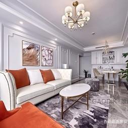 简单整洁美式客厅茶几图片