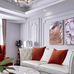 简单整洁美式客厅装饰画图片