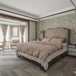 中式现代主卧室设计图