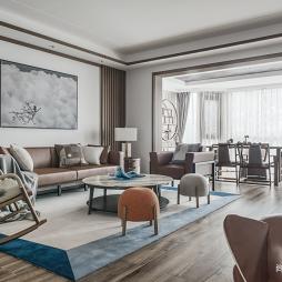 中式现代大客厅设计图