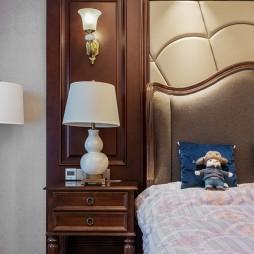 柔和美式风卧室床头灯图