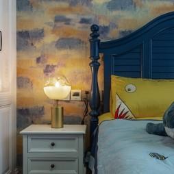 柔和美式风儿童房床头灯图