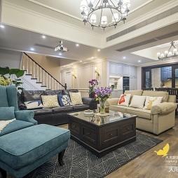 256平新美式客厅沙发图
