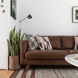 休闲北欧风客厅沙发设计图