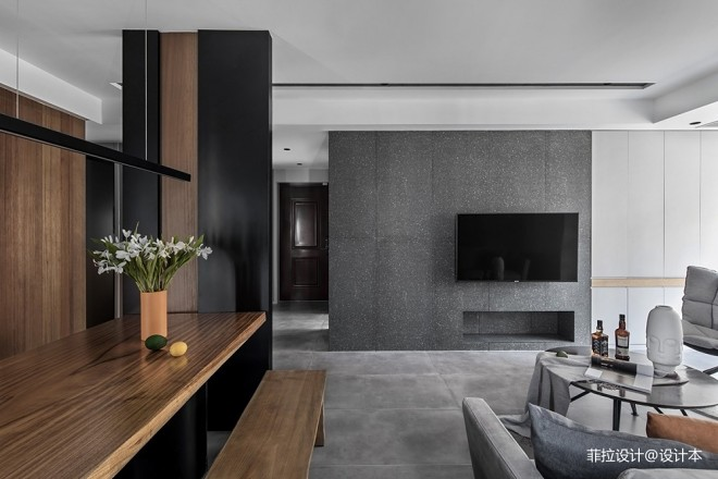 台式现代客厅背景墙设计