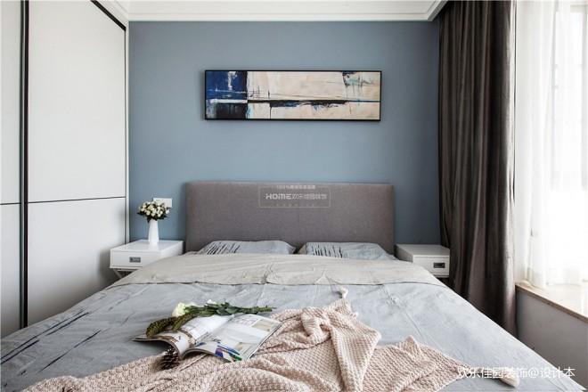冷色系卧室设计图