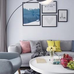 北欧极简客厅落地灯设计