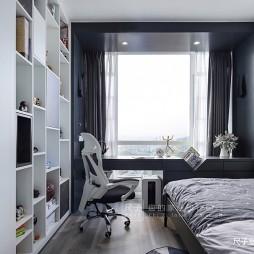 黑白灰中性风儿童房设计