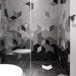精简现代风淋浴区设计