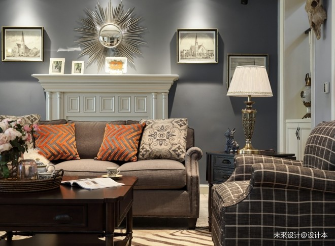 美式经典风客厅沙发图片