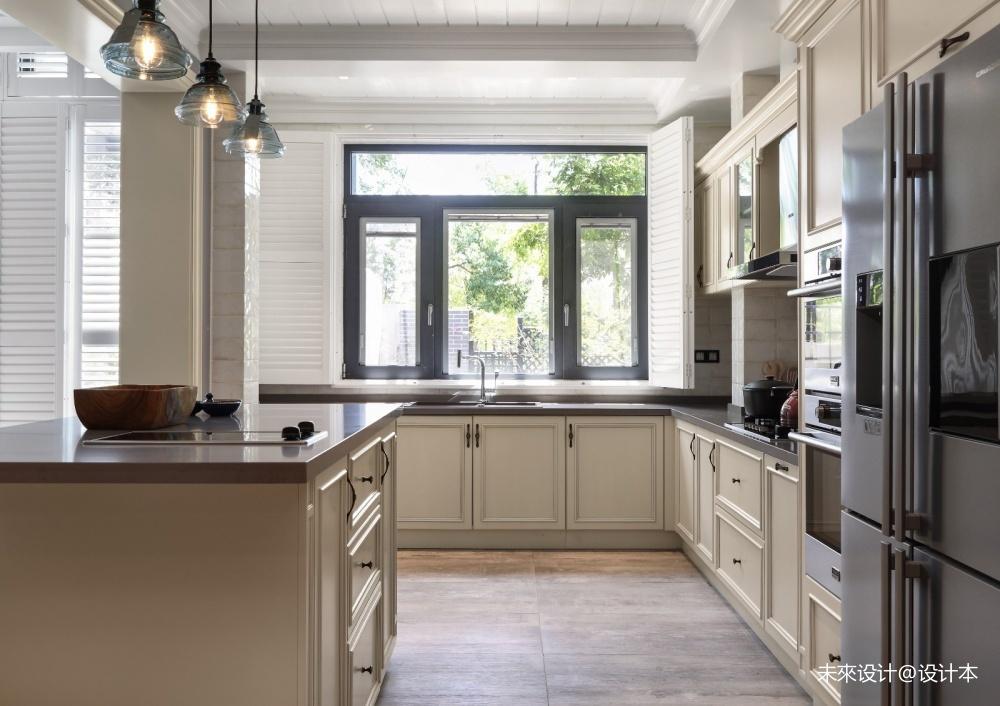 美式经典风厨房实景图片