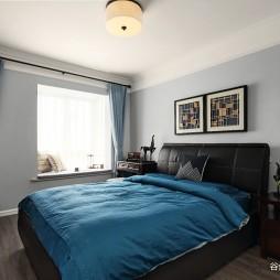 美式大卧室实景图片