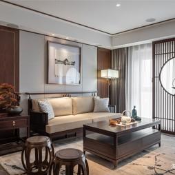 中式现代客厅实景图片