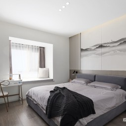 现代简约风主卧室设计图片