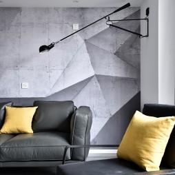 黑白简约客厅壁灯设计图