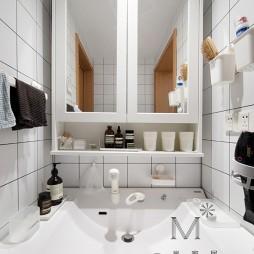 130㎡自然现代洗手台设计