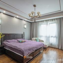 中式现代主卧室图