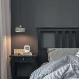 90㎡北欧极简风卧室吊灯图