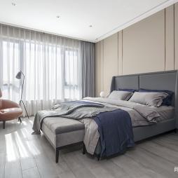 现代简约主卧室图片