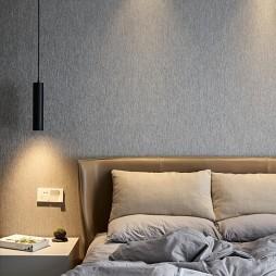 现代简约主卧室吊灯图片