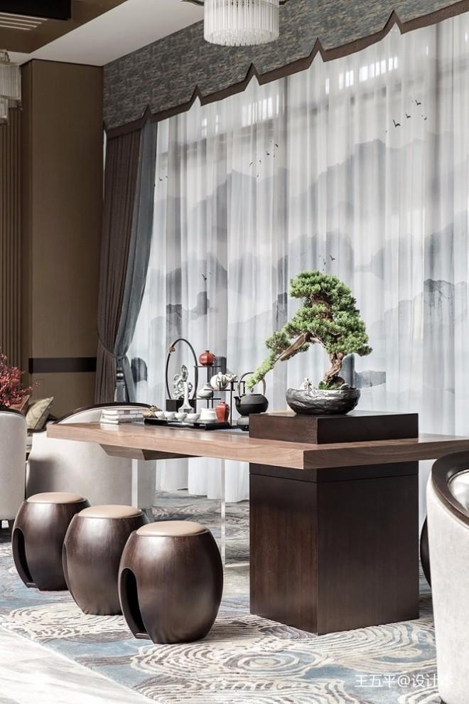 中式雅奢风售楼处休息区设计