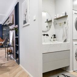 北欧极简风卫生间洗手台设计