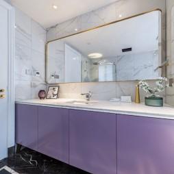 浪漫轻奢卫生间洗手台设计