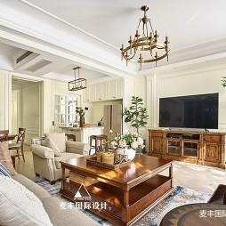 简美客厅茶几图片