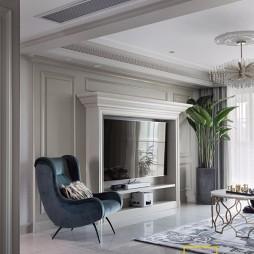 经典美式客厅背景墙设计