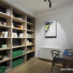北欧极简书房设计