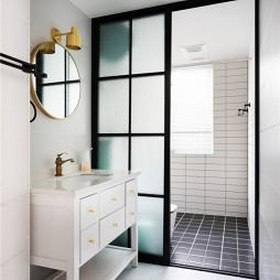 简单北欧卫生间洗手台设计