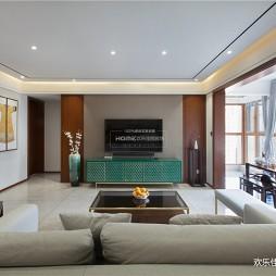 现代中式客厅实景图片