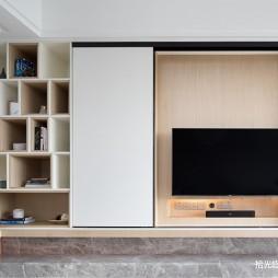 简约式客厅背景墙设计图