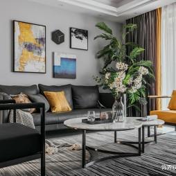 现代风沙发背景墙设计