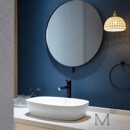 130㎡现代北欧卫生间洗手台设计