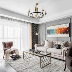 140㎡的改善型住房客厅沙发图