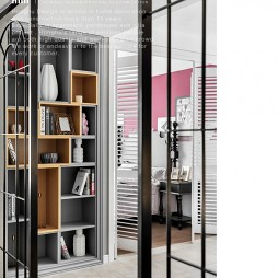 140㎡的改善型住房储物柜设计