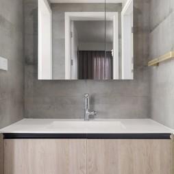 轻生活   现代风卫生间洗手台设计